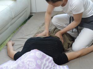 産後骨盤矯正の流れ 骨盤を締める呼吸方法