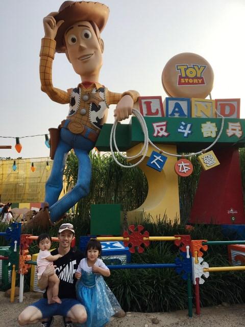 香港ディズニーランドのトイストーリー