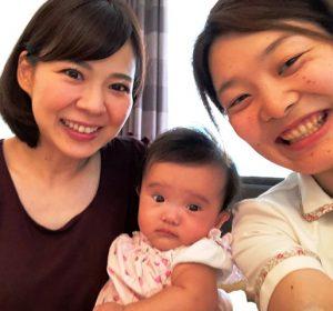 産後骨盤矯正 産後ママさんの笑顔写真