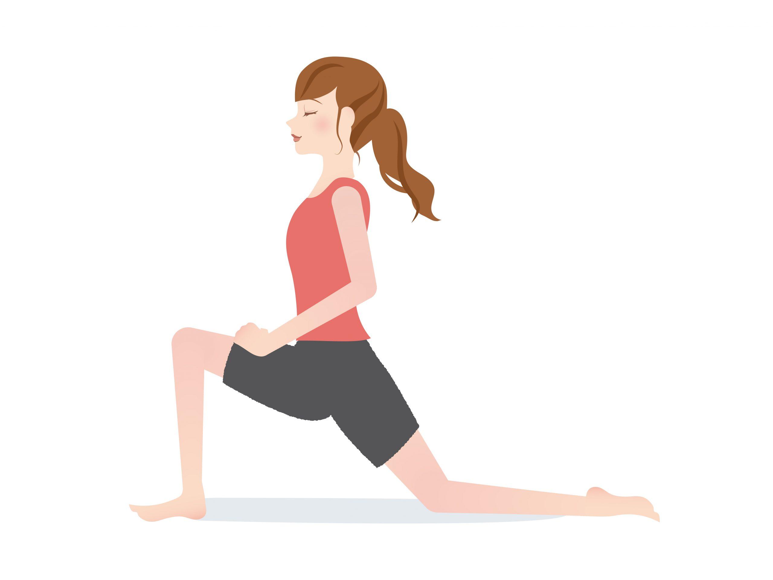 産後の膝痛を改善するためのストレッチエクササイズ